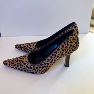 NINA Animal Print Pointed Toe Pump Heel